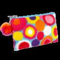 Microfibre pouch - Velvet Zip Pompon