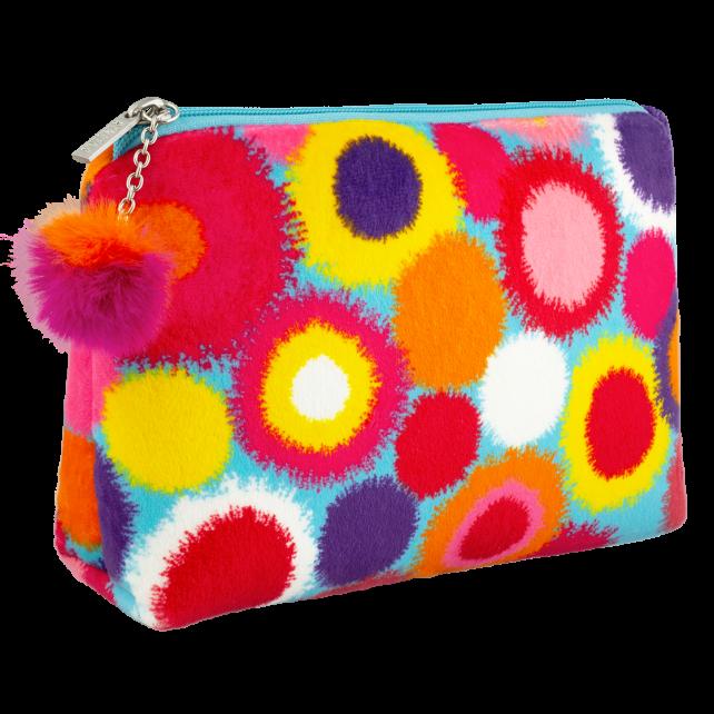 Cosmetic bag - Velvet Pouch Pompon
