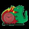 Sveglia piccola - Funny Clock Dragon Vert
