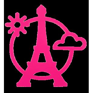 Dessous de plat - Magnetic Eiffel - Rose