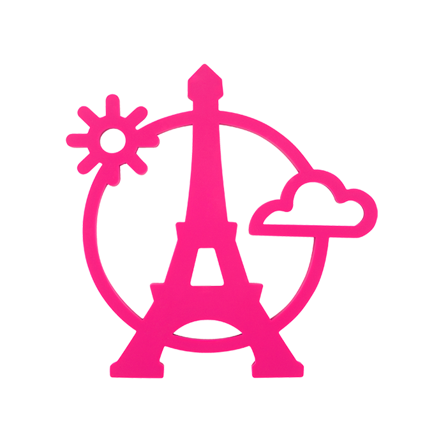 Magnetic Eiffel- Dessous de plat Rose