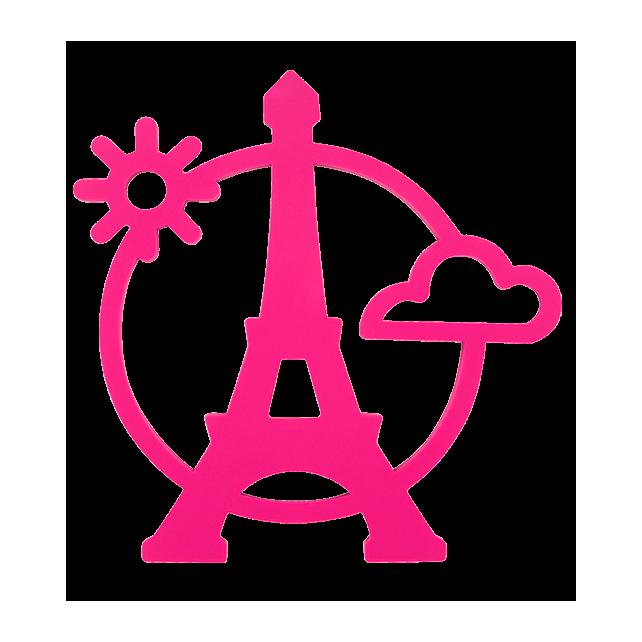 Magnetic Eiffel- Dessous de plat Pink