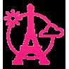 Magnetic Eiffel- Dessous de plat Rosa