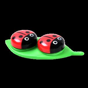 Etui à lentilles coccinelle - Ladybug