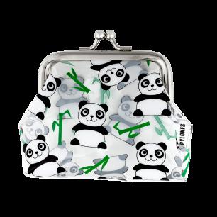 Geldbörse mit Clipverschluss - Clipurse - Panda