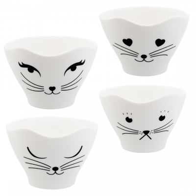 Set of  4 tea bowl - Teacat