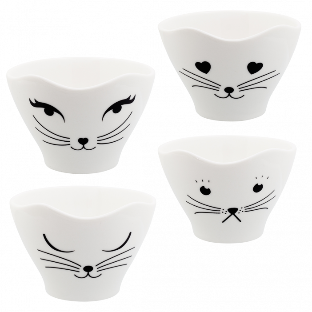 Set di 4 tazze da tè - Teacat
