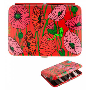 Zigarettenetui - Cigarette case - Coquelicots
