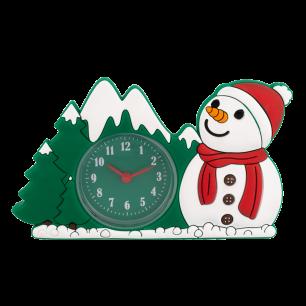 Alarm clock - Funny Clock - Snowman
