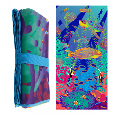 Microfibre towel - Body DS - Under the sea