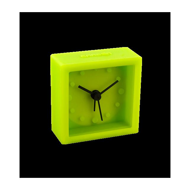 Mini square mini réveil green
