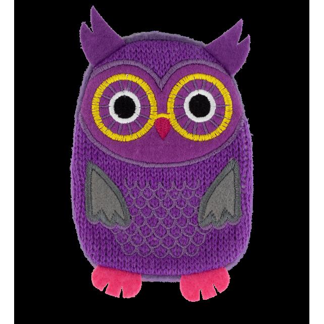 Taschenwärmer - Warmly Violett Eule
