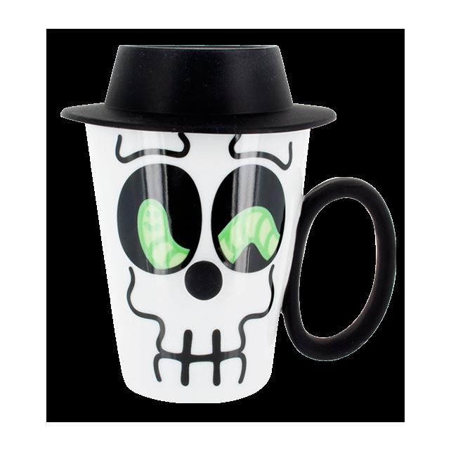 Tasse et couvercle - Face Mug Noir