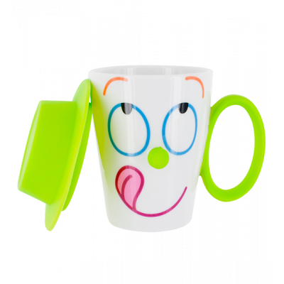 Cup and lid - Face Mug