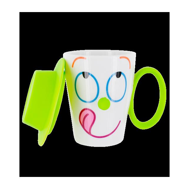 Tasse mit Deckel - Face Mug