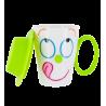 Face Mug - Tasse et couvercle Vert