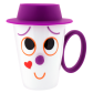 Cup and lid - Face Mug Black