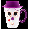 Face Mug - Tasse et couvercle Violet