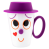 Face Mug - Tasse et couvercle Viola