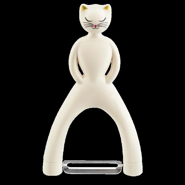 Vegetable peeler - Chat'Pluch White Cat