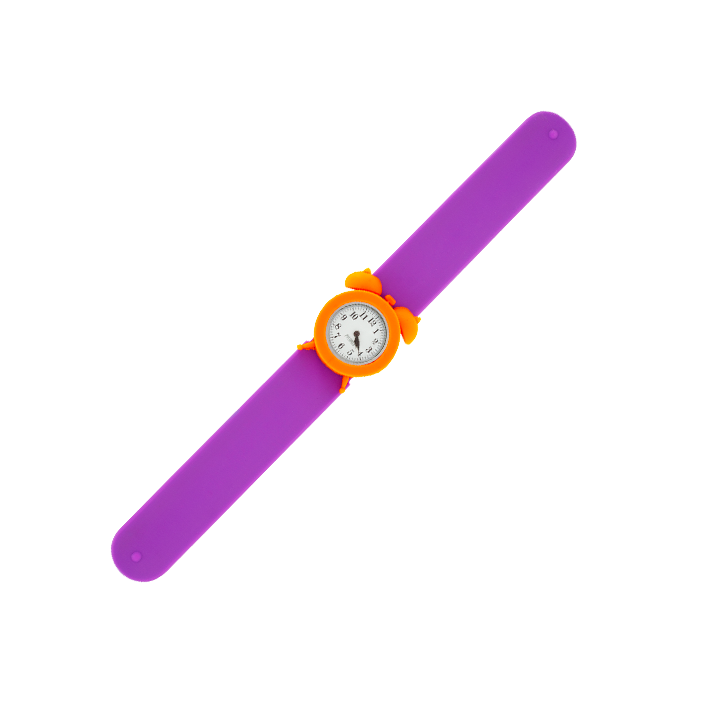 My Time - Montre slap réveil Violet / Orange