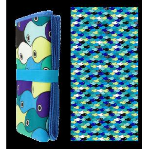 Microfibre towel - Body DS - Blue fish