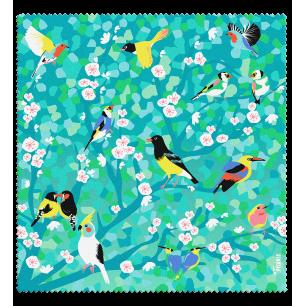 Tessuto in microfibra per occhiali - Belle Vue - Birds