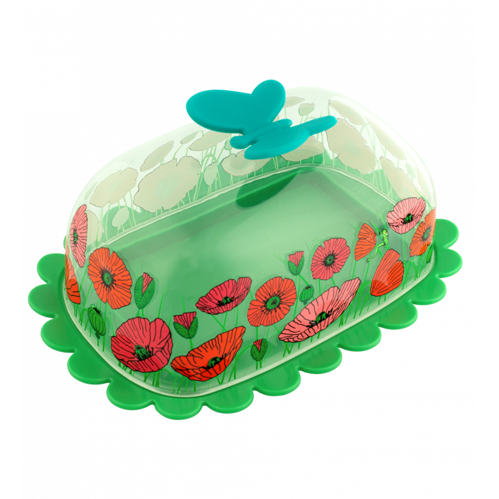Butter dish - Butter Fly Coquelicots