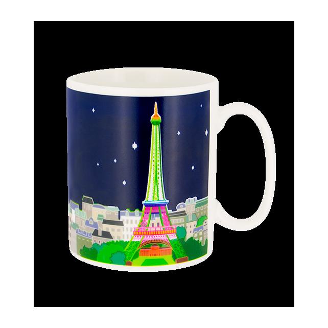 Paris s'éveille - Mug thermoréactif Paris Bleu