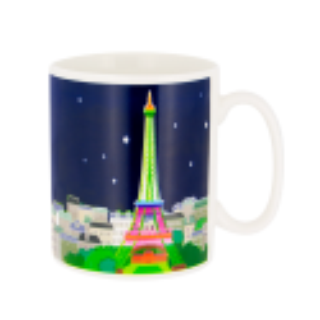Paris s'éveille - Thermoreaktive Henkeltasse