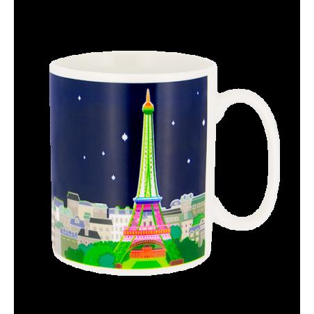 Paris s'éveille - Thermoreaktive Henkeltasse Paris Bleu