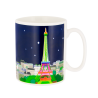 Paris s'éveille - Mug thermoréactif Paris Bleu