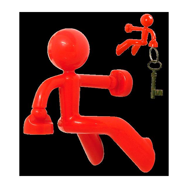 Porte clés aimanté - Peter Rouge