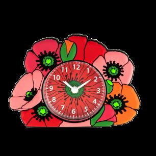 Alarm clock - Funny Clock - Coquelicots