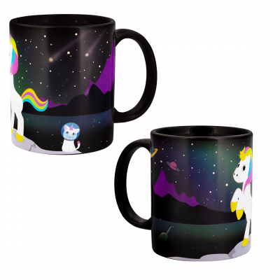 Thermoreaktive Henkeltasse - Magic Unicorn