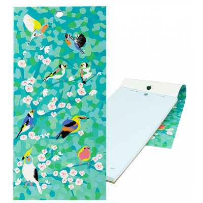 Magnetic memo block - Notebook Formalist - Birds