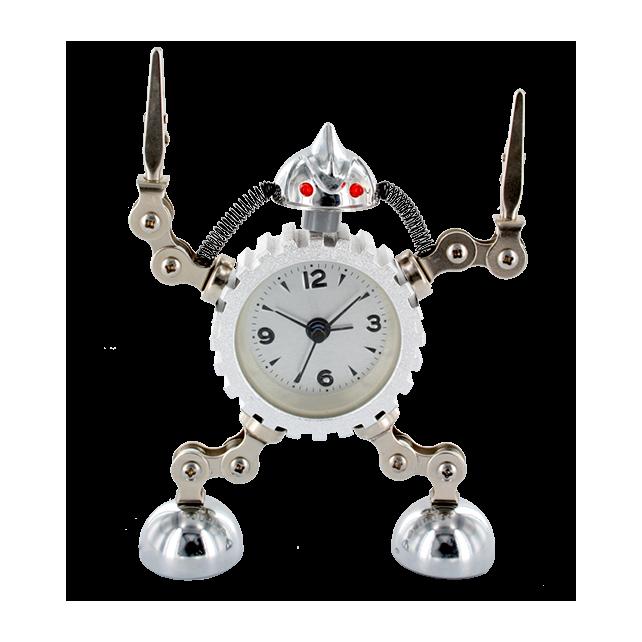 Robot Timer - Réveil Argent