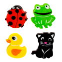 Rubbeast - Set di 4 gomme animali