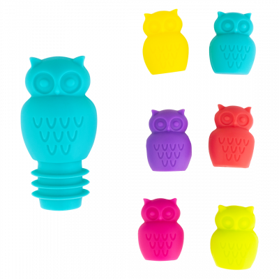 Glass markers and stopper - Owl
