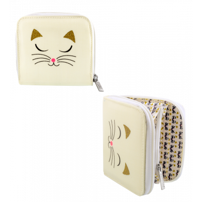 Small wallet - Voyage - White Cat