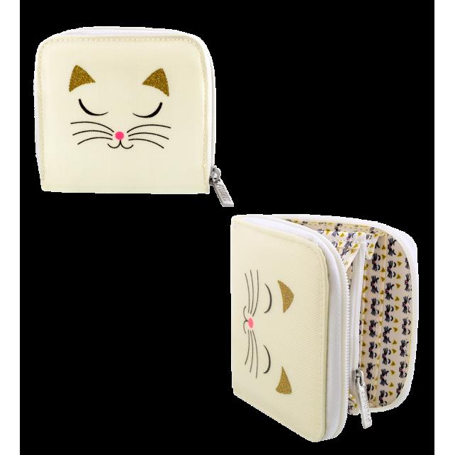 Piccolo portafoglio - Voyage White Cat