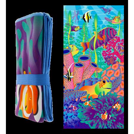 Microfibre towel - Body DS Coquelicots