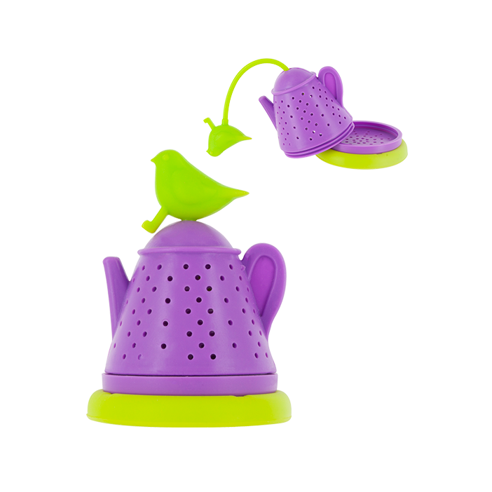 Bird Teapot - Infuseur à thé Green / Purple