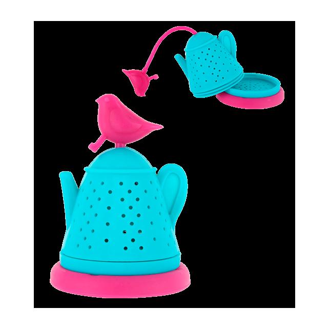 Bird Teapot - Infuseur à thé Rosa / Blau