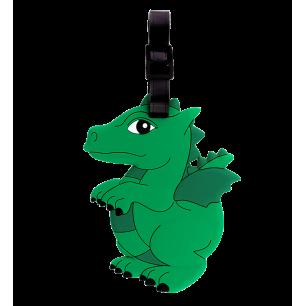 Luggage label - Ani-luggage - Dragon Vert