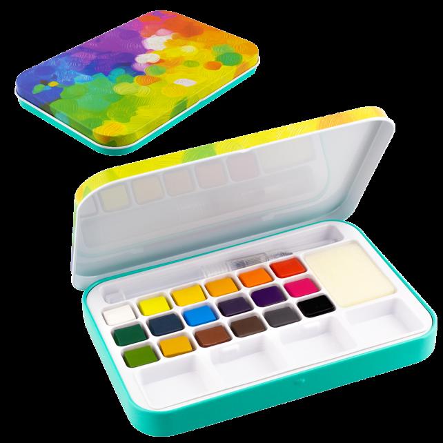 Watercolor Box  - Eau En Couleurs Palette
