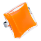 Carre Giga Milk - Bague en verre Orange