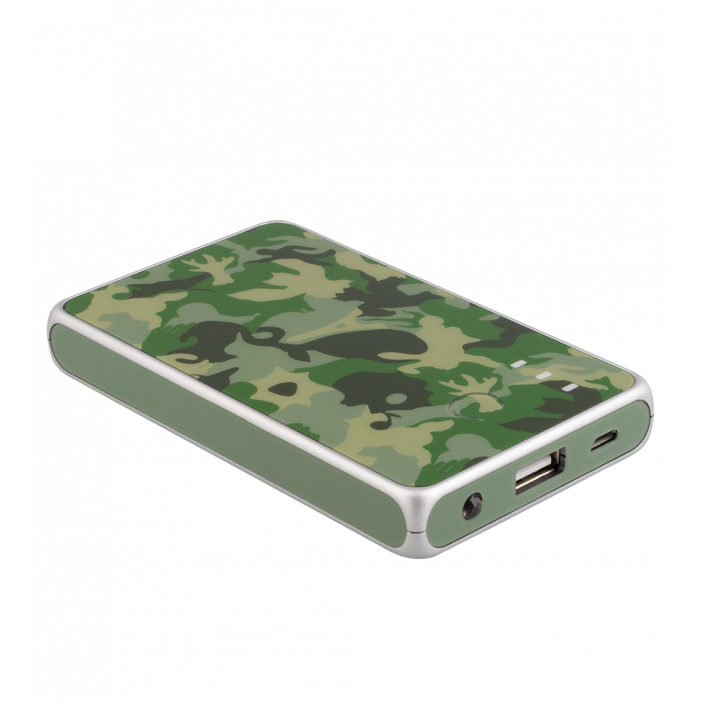 Tragbares Ladegerät 5000mAh - Get The Power 2 Camouflage Green