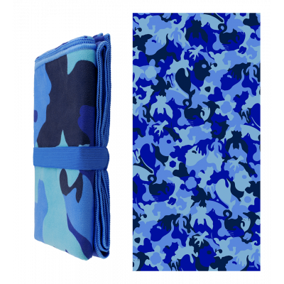 Microfibre towel - Body DS - Camouflage Blue