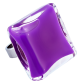 Carre Giga Milk - Bague en verre Purple
